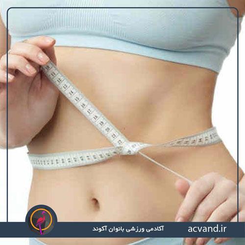 آب کردن شکم و پهلو با ورزش