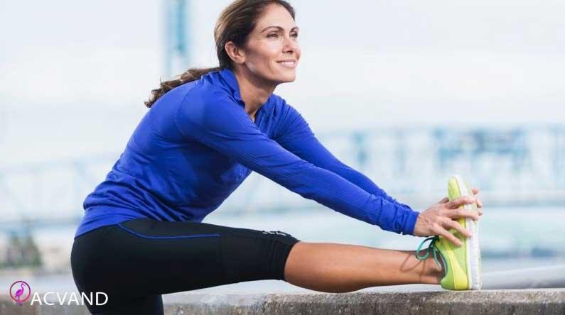 حرکات کششی بعد از ورزش کردن