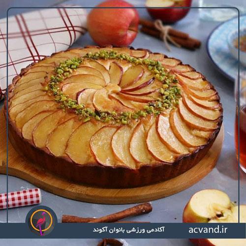 طرز تهیه کیک سیب و دارچین در منزل