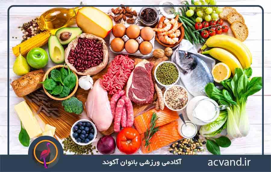 ۵ گروه اصلی مواد غذایی