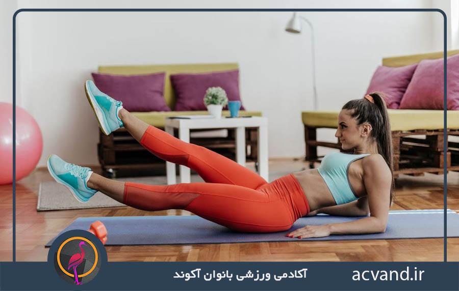 آموزش بهترین حرکات پیلاتس برای لاغری شکم و پهلو بانوان در منزل